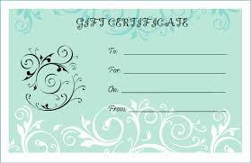 Printable Gift Certificate Templates Gift Certificate Template Pdf Best Of Free Printable Gift