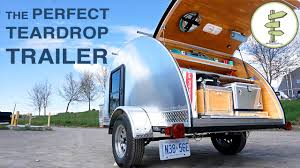 hand built teardrop camper trailer with solar power running water perfect mini rv you