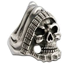 grim wide biker ring handmade from pure 925 sterling silver evilrings
