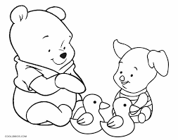 Baby Winnie The Pooh And Piglet Coloring Pages For Kids Free To