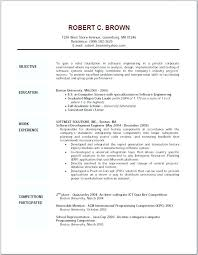 Object Of Resume Cool Objectives For Resumes High School Students Student Objective Resume