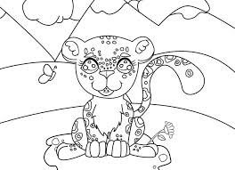 Amur Leopard Coloring Pages Clouded Leopard Coloring Page Coloring