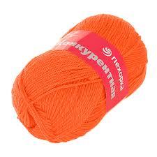 <b>Пряжа Конкурентная</b>, 100 г / 250 м, <b>189</b> ярко-оранжевый - <b>Пряжа</b> ...