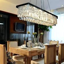 amazing rectangular crystal chandelier dining room rectangle lights