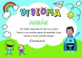 Plantillas De Diplomas Para Niños Para Rellenar E Imprimir Con Foto