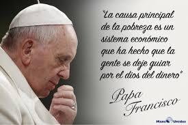 Resultado de imagen para el papa francisco con los pobres