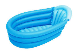 image of inflatable travel baby bath