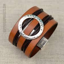 wide diy leather cuff bracelet