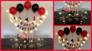 Hi everyone, this channel is mainly created to present easy handmade crafts and diy's for children and adults. Romantic Surprise Birthday Party Decoration For Husband Boyfriend Simple Birthday Decorations Surprise Birthday Decorations Diy Birthday Decorations