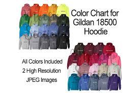 Color Chart For Gildan 18500 Hoodie Digital Color Chart