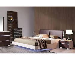 bedroom  modern style bedroom set floating bed with white led