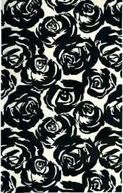 roses area rug rugs living by spade new contrast rose garden black bungalow pink 1 carpet