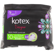 Kotex Designer Pads Buy Kotex Designer Maxi Pads Super Wings 10pcs Online