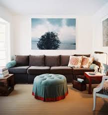 charming eclectic living room ideas. Charming Extra Long Sofa And Round Comfort Pouffe With Pattern Cushions Striking Photos Design Leather Pet Protector Elastic Straps Eclectic Living Room Ideas