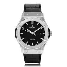 mens hublot watches the watch gallery hublot classic fusion titanium black dial watch 542 nx 1171 lr