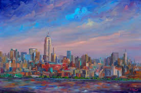 twin towrs wtc trade center nyc skyline oil painting canvas limited edition prints