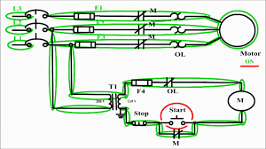 motor control circuit diagram start stop wire control motor control circuit diagram start stop 3 wire control