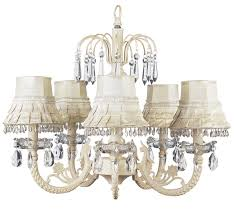 chic waterfall ivory chandelier