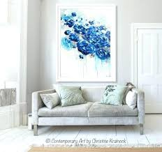 large coastal wall art large coastal wall art print large art abstract painting blue flowers navy on navy blue flower wall art with large coastal wall art large coastal wall art print large art