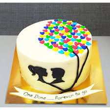 Send Anniversary Cake For Couples Online By Giftjaipur In Rajasthan