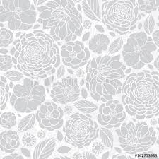 Silver Pattern New Vector Silver Grey White Mosaic Flowers Seamless Repeat Pattern