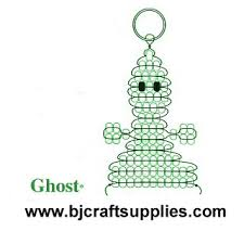 Beaded Keychain Patterns Impressive Beaded Ghost Key Chain