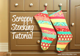 Christmas Stocking Tutorial - Diary of a Quilter - a quilt blog & make your own Christmas stocking using fabric scraps Adamdwight.com