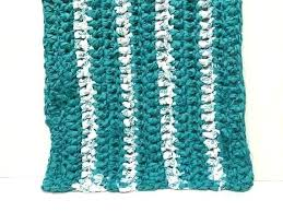 black and white wool braided rug teal rag crocheted fabric cotton