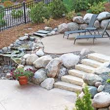 patio designs. Multi-level Patio Designs With Water Feature D