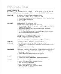 Chemist Resume Cool Sample Chemistry Resume Wlcolombia