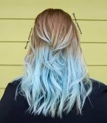Pastel Light Blue Hair Light Blue Ends Frozen Hair Haircolorlight Dyed Hair