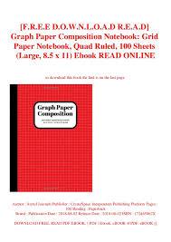 F R E E D O W N L O A D R E A D Graph Paper Composition