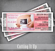 Concert Ticket Invitations Template Inspiration Ultrasound Baby Shower Ticket Invitations Pregnancy Announcement