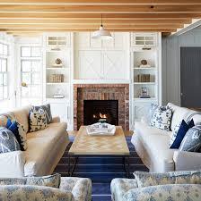 cottage living room built ins