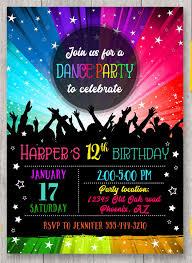 Dance Invitation Ideas 15 Dance Party Invitation Designs Templates Psd Ai Free