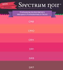 Spectrum Noir Marker Chart Color Charts Spectrum Noir Colouring System From Crafters