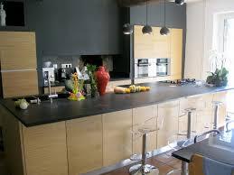 Facade Cuisine Noir Mat Best Of Cuisine Avec Plan De Travail Granit