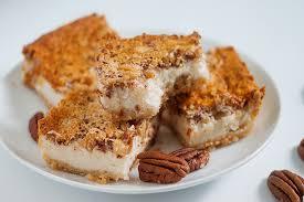 pecan pie cheesecake bars. Interesting Pecan In Pecan Pie Cheesecake Bars A