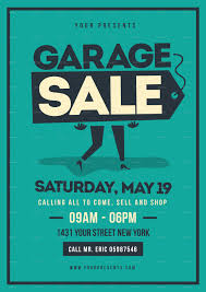 Retro Garage Sale Flyer By Lilynthesweetpea Graphicriver Garage