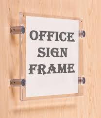 standoff sign mounts with acrylic frame for landscape orientation letter size graphics