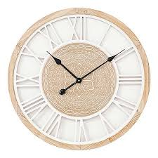 round wooden wall clock by kaleidoscope