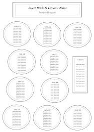 Online Wedding Seating Chart Template