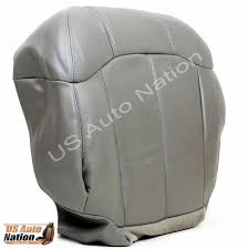 1999 2000 2001 2002 chevy silverado driver bottom leather seat cover in gray 1 of 11free