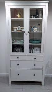ikea hemnes glass door cabinet with drawers in white