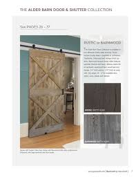 the alder barn door shutter collection see pages 26 37 rustic or barnwood the