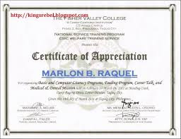 Samples Certificate Best Certificate Of Recognition As Organizer Free Example 48