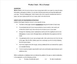 Standard Mla Format 26 Different Bibliography Format Templates Free Pdf Doc