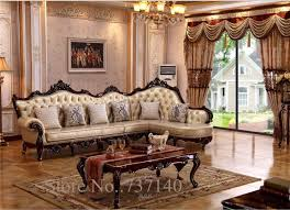 high end living room furniture. aliexpress.com : buy chaise reclining armchair luxury baroque style living room furniture l shape sofa set wood and leather high end from reliable i