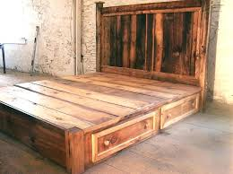 King Bed Frame Diy Rustic King Size Bed Reclaimed Rustic Pine ...