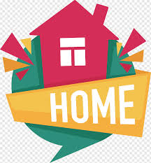Real Estate Design Red House Illustration With Text Overlay House Cartoon Logo